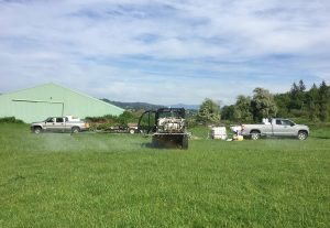 Herbicide Application field spraying in Washington and Oregon